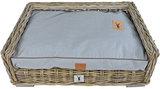 Rotan Hondenmand met est 1941 hondenkussen grey 100x 70cm