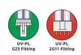 UV PL vervangingslamp 2G11 18 watt