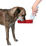 hond drinkt uit travel fles