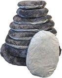 Ovale hondenkussen grijs/antraciet