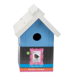 Bird Home Mezen Nestkast Blauw wit