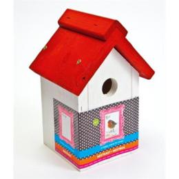 Bird Home Mezen Nestkast Rood wit
