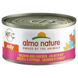 Almo Nature HFC Jelly Zalm met Kip 70gram