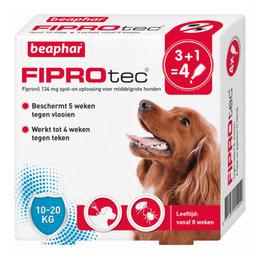 Beaphar FiproTec Spot-On 10-20kg 3+1 gratis