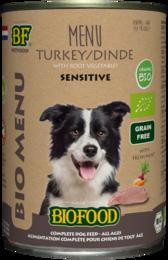 Biofood Organic Kalkoen Menu Blik 400 gram