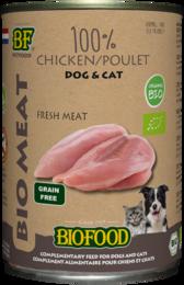 Biofood Organic 100% kippenvlees 400 gram