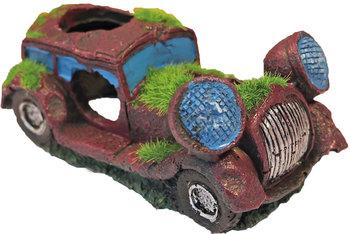 Ornament auto met gaten en mos