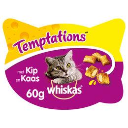 Whiskas Temptations kaas en kip kattensnoepjes