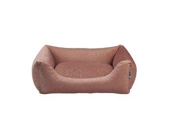 Lobbes hondenmand Velours metalic roze