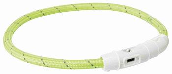 Lichtgevende Hondenhalsband USB groen