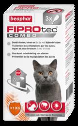 Beaphar Fiprotec Combo Kat en Fret Vlooiendruppels