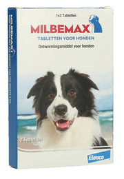 Milbemax Ontwormtablet Hond 2 Tabletten