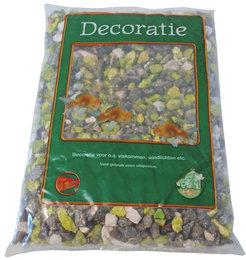 Aquariumgrind Zwart Wit Groen 900 gram