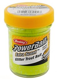 Berkley Glitter Power Trout Bait Charteuse