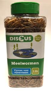 Gedroogde meelwormen vijvervissen 1 liter