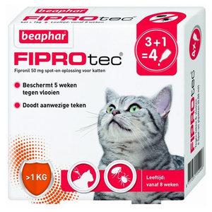 Beaphar FiproTec Spot-On Kat 3+1 gratis