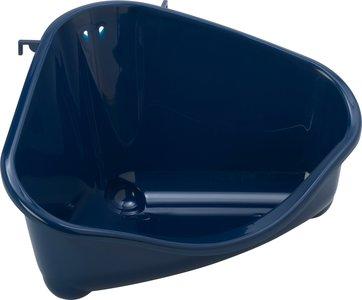 Konijnen hoektoilet Blauw groot