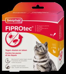 Fiprotec katten vlooiendruppels tekendruppels 3+1 gratis