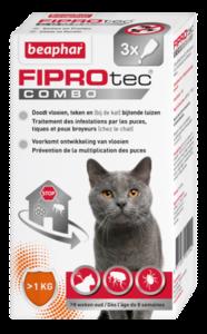 Fiprotec vlooiendruppels combo kat