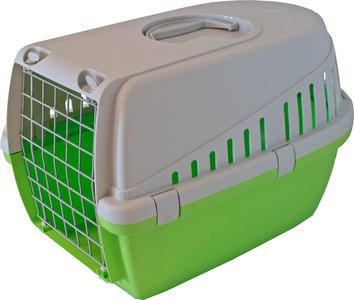 Reismand Trotter 1 grijs met lime groen