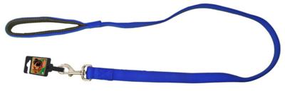 Nylon Hondenriem blauw