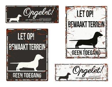 Waakbord Teckel NL