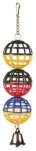 Vogelspeelgoed 3 gaasballen met bel