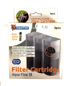 superfish aqua-flow 50 crystal clear filter cartridge
