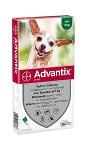 Advantix teken en vlooiendruppels honden tot 4kg