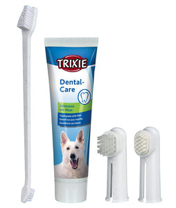 Dental Care honden tandpasta tandenborstel set