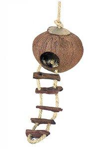 Cocosnoot ophang hamsterhuis