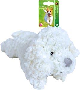 Pluche hondenspeelgoed hond zonder geluid