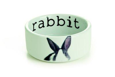 Stenen konijnenvoer- Waterbak Rabbit